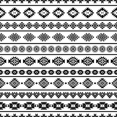 Aztec seamless pattern, vector. Native american motifs. Tribal geometric background. Can be used for textile design, yoga clothes and accessories, backpacks, bags, phone cases, etc.