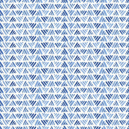 Blue watercolor seamless pattern with lines, abstract modern background, illustration. Zdjęcie Seryjne