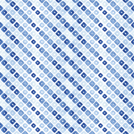 Watercolor seamless pattern with blue rhombus. Abstract modern background, illustration. Stock Photo