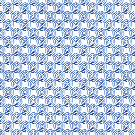 Blue watercolor seamless pattern with polka dots. Template with lines, circles. Modern background, illustration. Zdjęcie Seryjne