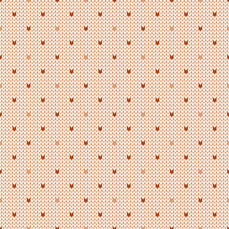 Winter knitted seamless pattern with dots. Norwegian style sweater. Wool texture. Vector illustration. Traditional holiday background.