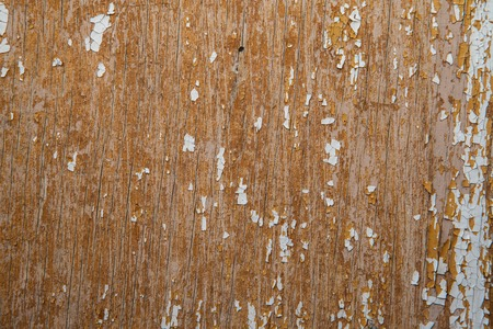 off course: Old and peeled creaky paint , In course of time the white tone off the planks crackled, wood texture, background, colorful, cracks in the , vintage, abstract, grunge, Stock Photo