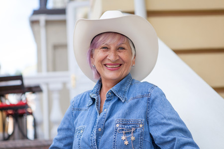 Woman Hat Cowboy Stock Photos And Images - 123RF 22b24a0aadb6