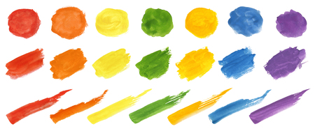 Watercolor Stains and Strokes 免版税图像