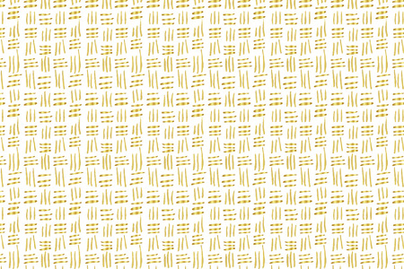 Golden Vector Hand Drawn Abstract Pattern