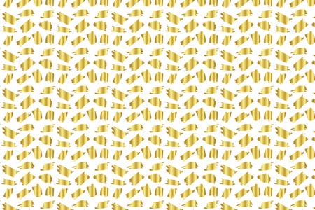 Golden Vector Hand Drawn Pattern.