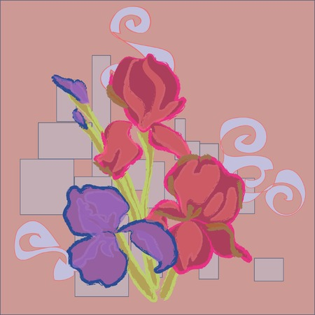abstractions: floral background