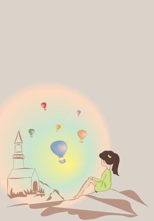 girl on a parade of balloons