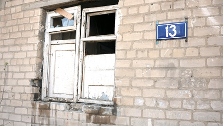 deface: House number 13 destroyed