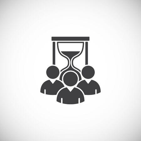 Icône liée au travail d'équipe sur fond pour la conception graphique et web. Symbole de concept d'illustration créative pour le web ou l'application mobile. Vecteurs
