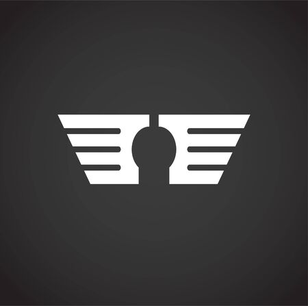 Wing related icon on background for graphic and web design. Creative illustration concept symbol for web or mobile app  イラスト・ベクター素材