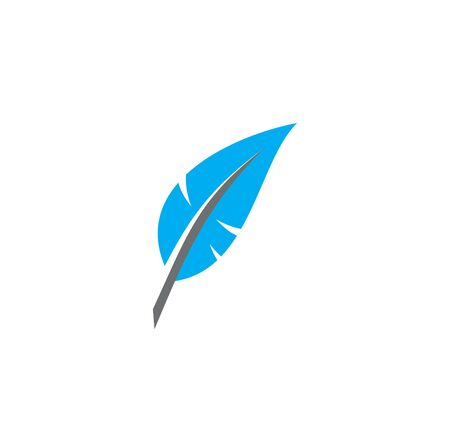 Feather icon on background for graphic and web design. Creative illustration concept symbol for web or mobile app. 免版税图像 - 138777866