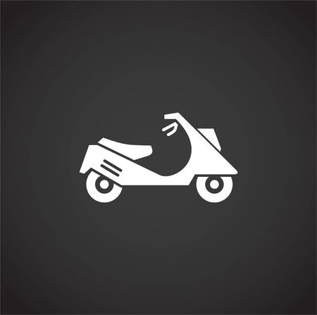 Motorcycle icon on background for graphic and web design. Creative illustration concept symbol for web or mobile app.