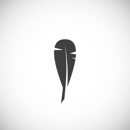 Feather icon on background for graphic and web design. Creative illustration concept symbol for web or mobile app.