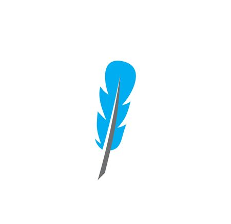 Feather icon on background for graphic and web design. Creative illustration concept symbol for web or mobile app. 免版税图像 - 138780014