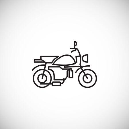 Motorcycle icon outline on background for graphic and web design. Creative illustration concept symbol for web or mobile app. Ilustração Vetorial