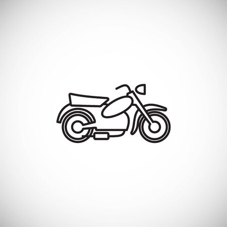 Motorcycle icon outline on background for graphic and web design. Creative illustration concept symbol for web or mobile app.
