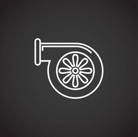 Car part icon on background for graphic and web design. Creative illustration concept symbol for web or mobile app.