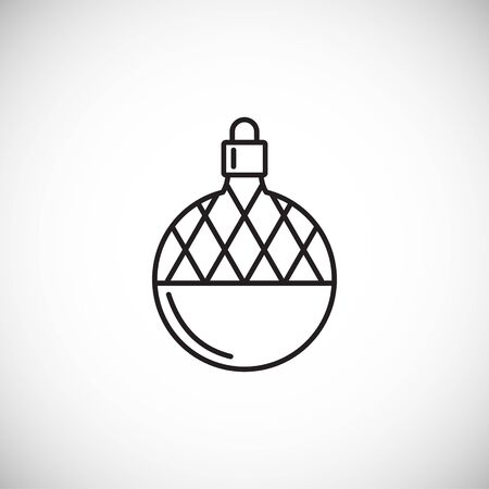 Christmas related toy icon outline on background for graphic and web design. Creative illustration concept symbol for web or mobile app. Ilustração
