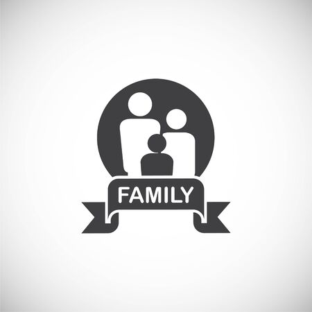 Family related icon on background for graphic and web design. Creative illustration concept symbol for web or mobile app.