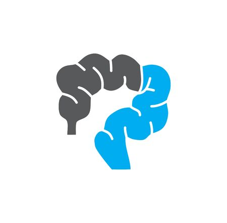 Human organ related icon on background for graphic and web design. Creative illustration concept symbol for web or mobile app.