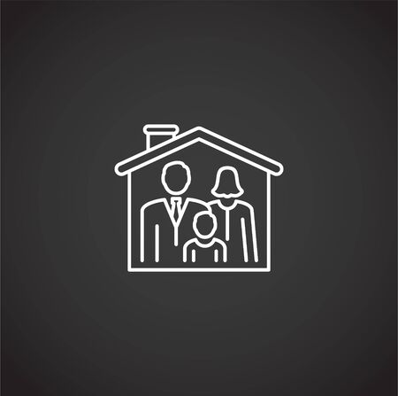 Family related icon on background for graphic and web design. Creative illustration concept symbol for web or mobile app