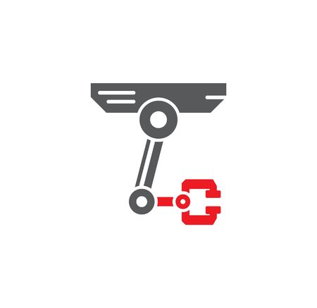 Robotic surgery related icon on background for graphic and web design. Creative illustration concept symbol for web or mobile app