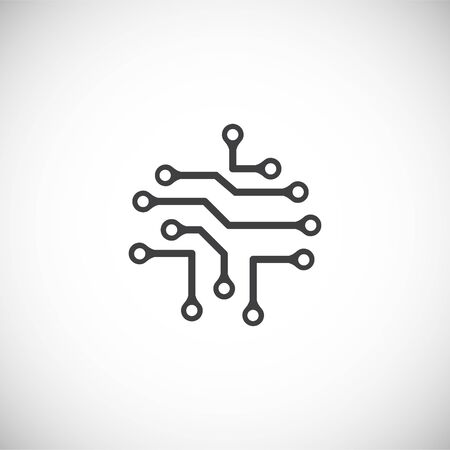 Nano tech related icon on background for graphic and web design. Creative illustration concept symbol for web or mobile app.