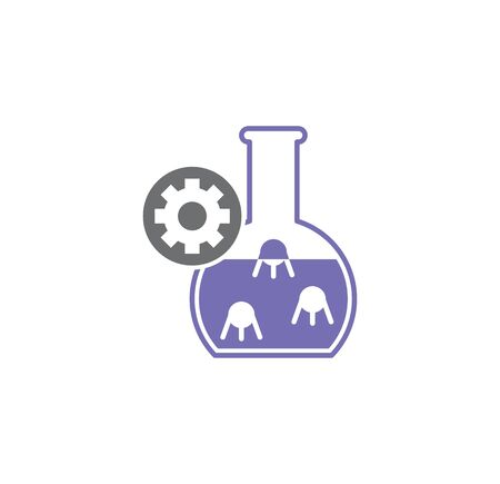 Nano tech related icon on background for graphic and web design. Creative illustration concept symbol for web or mobile app Иллюстрация