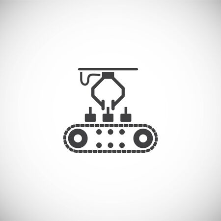 Robotic manufacture related icon on background for graphic and web design. Creative illustration concept symbol for web or mobile app