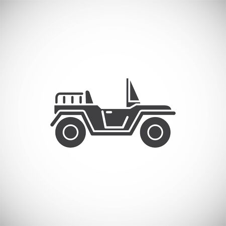Car related icon on background for graphic and web design. Creative illustration concept symbol for web or mobile app