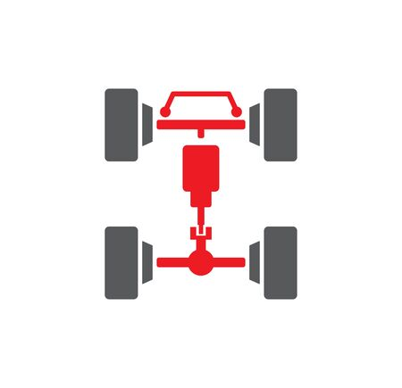 Car tuning related icon on background for graphic and web design. Creative illustration concept symbol for web or mobile app Stock Illustratie