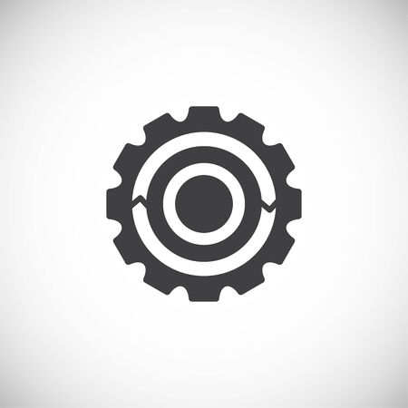 Gear icon on background for graphic and web design. Creative illustration concept symbol for web or mobile app.