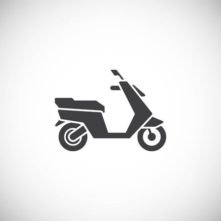Motorcycle related icon on background for graphic and web design. Creative illustration concept symbol for web or mobile app.