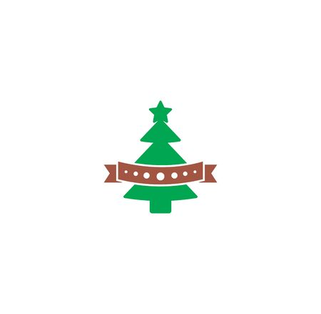 Christmas tree icon on background for graphic and web design. Creative illustration concept symbol for web or mobile app Foto de archivo - 139763987