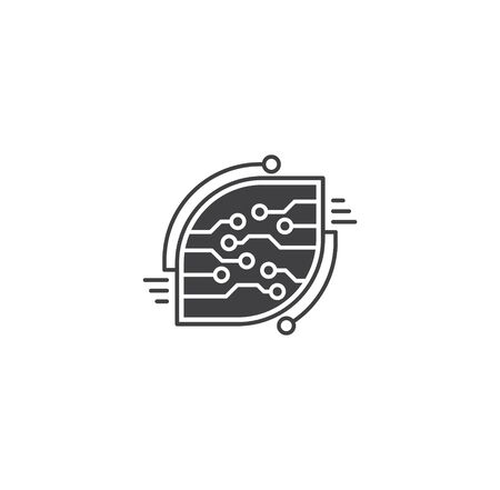 Curcuit related icon on background for graphic and web design. Creative illustration concept symbol for web or mobile app