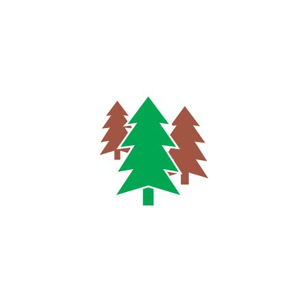 Christmas tree icon on background for graphic and web design. Creative illustration concept symbol for web or mobile app Foto de archivo - 139763981