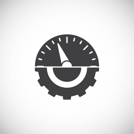 High performance related icon on background for graphic and web design. Creative illustration concept symbol for web or mobile app.