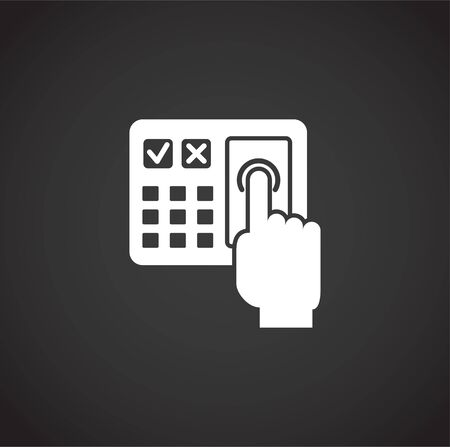 Finger Print security related icon on background for graphic and web design. Creative illustration concept symbol for web or mobile app.