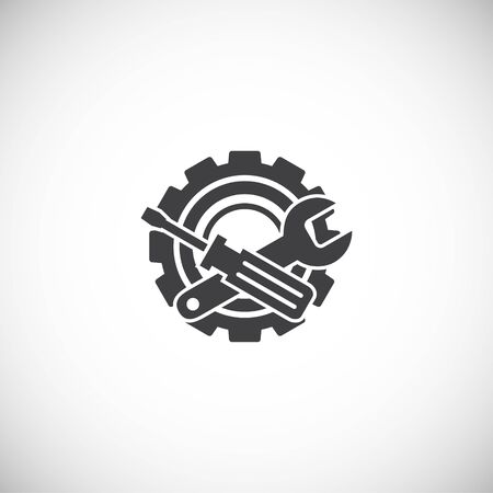 Engineering related icon on background for graphic and web design. Creative illustration concept symbol for web or mobile app.