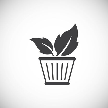 Eco friendly related icon on background for graphic and web design. Creative illustration concept symbol for web or mobile app.