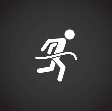 Running related icon on background for graphic and web design. Creative illustration concept symbol for web or mobile app.