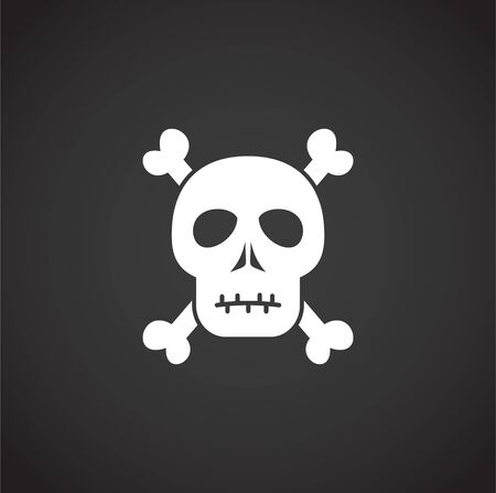 Skull icon on background for graphic and web design. Creative illustration concept symbol for web or mobile app. Иллюстрация