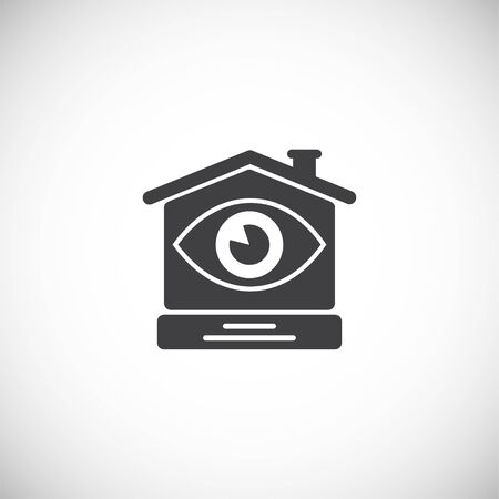 Smart home related icon on background for graphic and web design. Creative illustration concept symbol for web or mobile app.