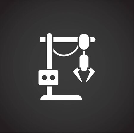 Robotic manufacture related icon on background for graphic and web design. Creative illustration concept symbol for web or mobile app.