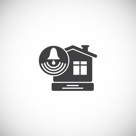 Smart home related icon on background for graphic and web design. Creative illustration concept symbol for web or mobile app