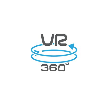 Virtual reality VR related icon on background for graphic and web design. Creative illustration concept symbol for web or mobile app.