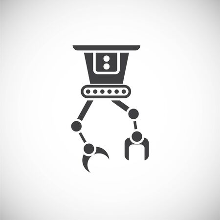 Robotic surgery related icon on background for graphic and web design. Creative illustration concept symbol for web or mobile app. Illustration
