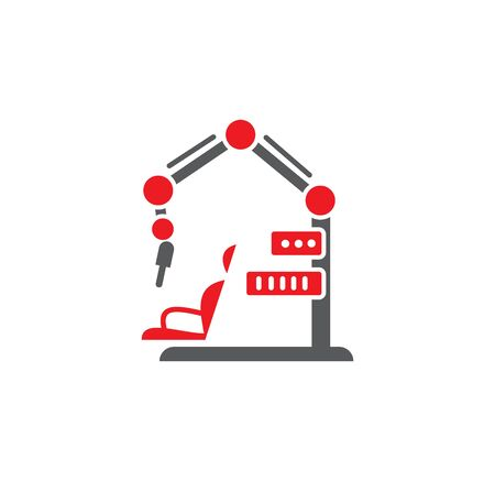 Robotic surgery related icon on background for graphic and web design. Creative illustration concept symbol for web or mobile app.  イラスト・ベクター素材