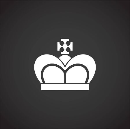 Crown icon on background for graphic and web design. Creative illustration concept symbol for web or mobile app.